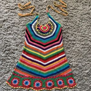 Beautiful colorful crochet dress